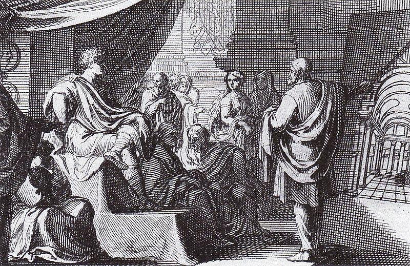 Figure 1. 1684 depiction of Vitruvius presenting De Architectura to Augustus (Source: Vitruvius on Architecture by Thomas Gordon Smith)